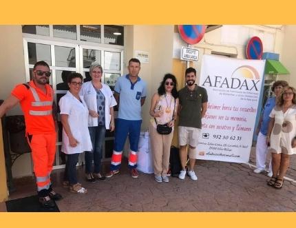 Afadax visita el centro de salud de La Viñuela