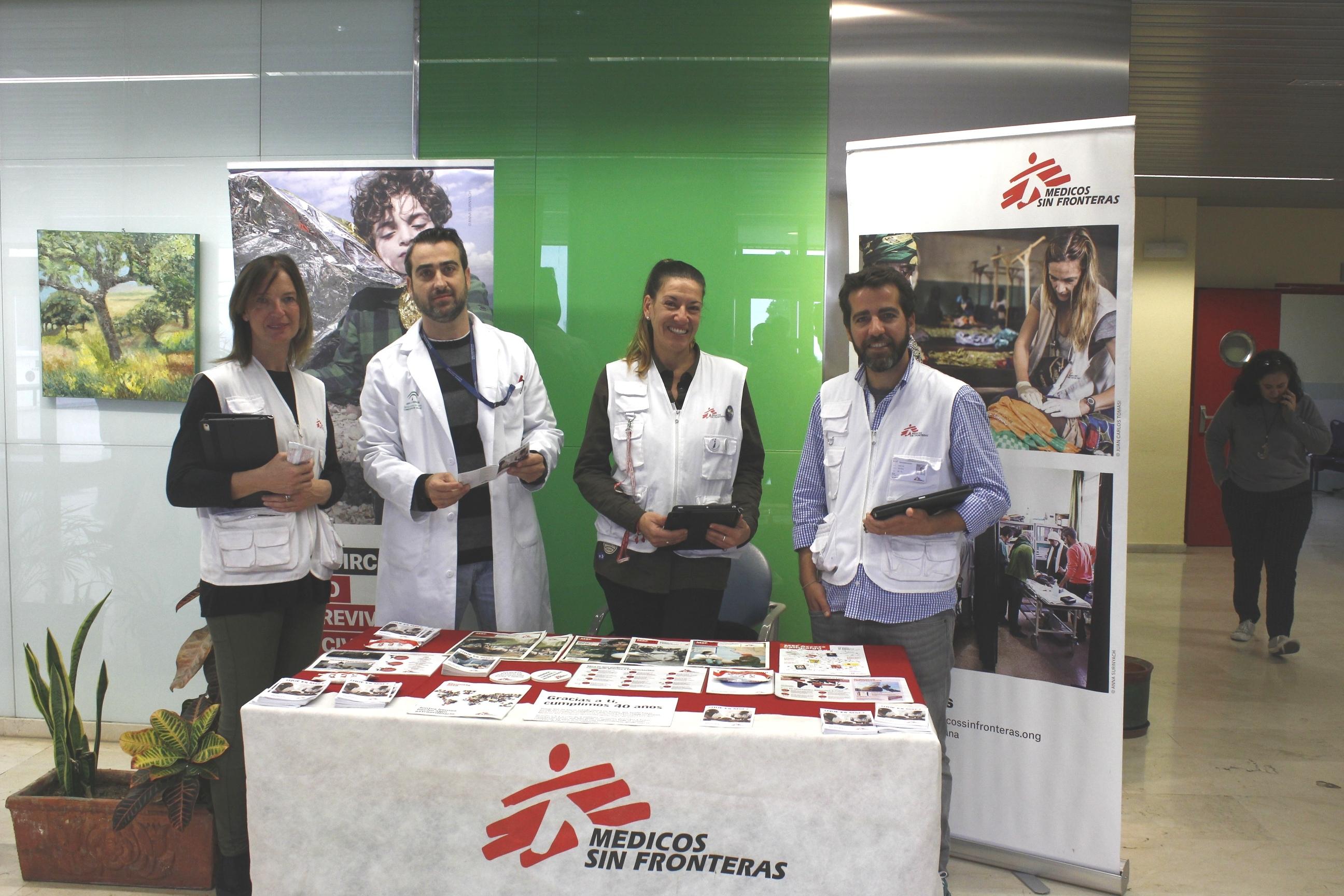 Médicos Sin Fronteras visita el Hospital de La Axarquía