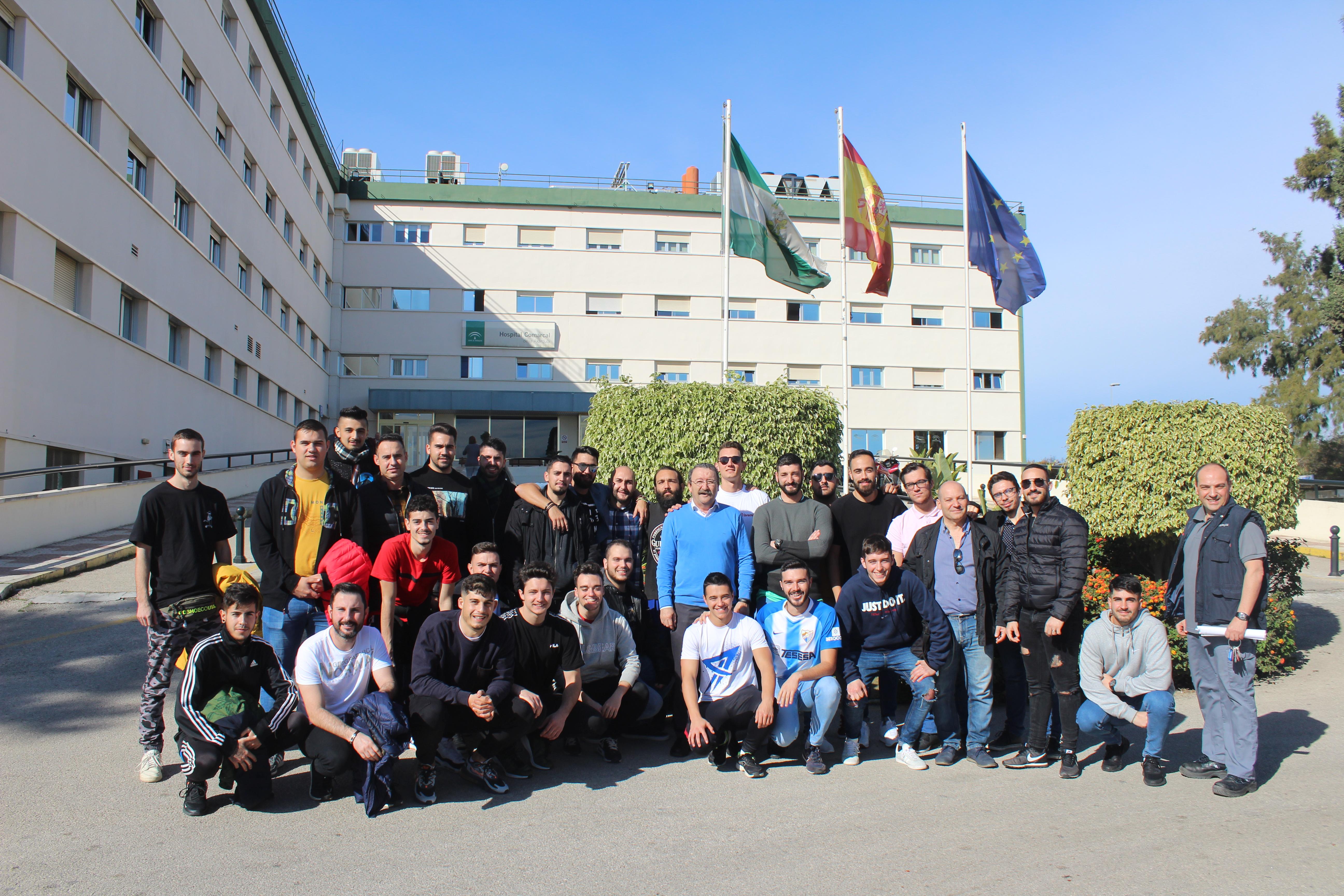 Alumnado del Grado de Mantenimiento de Instalaciones Térmicas y Fluidos del Colegio Salesiano 'San Bartolomé' de Málaga visitan el Hospital de La Axarquía