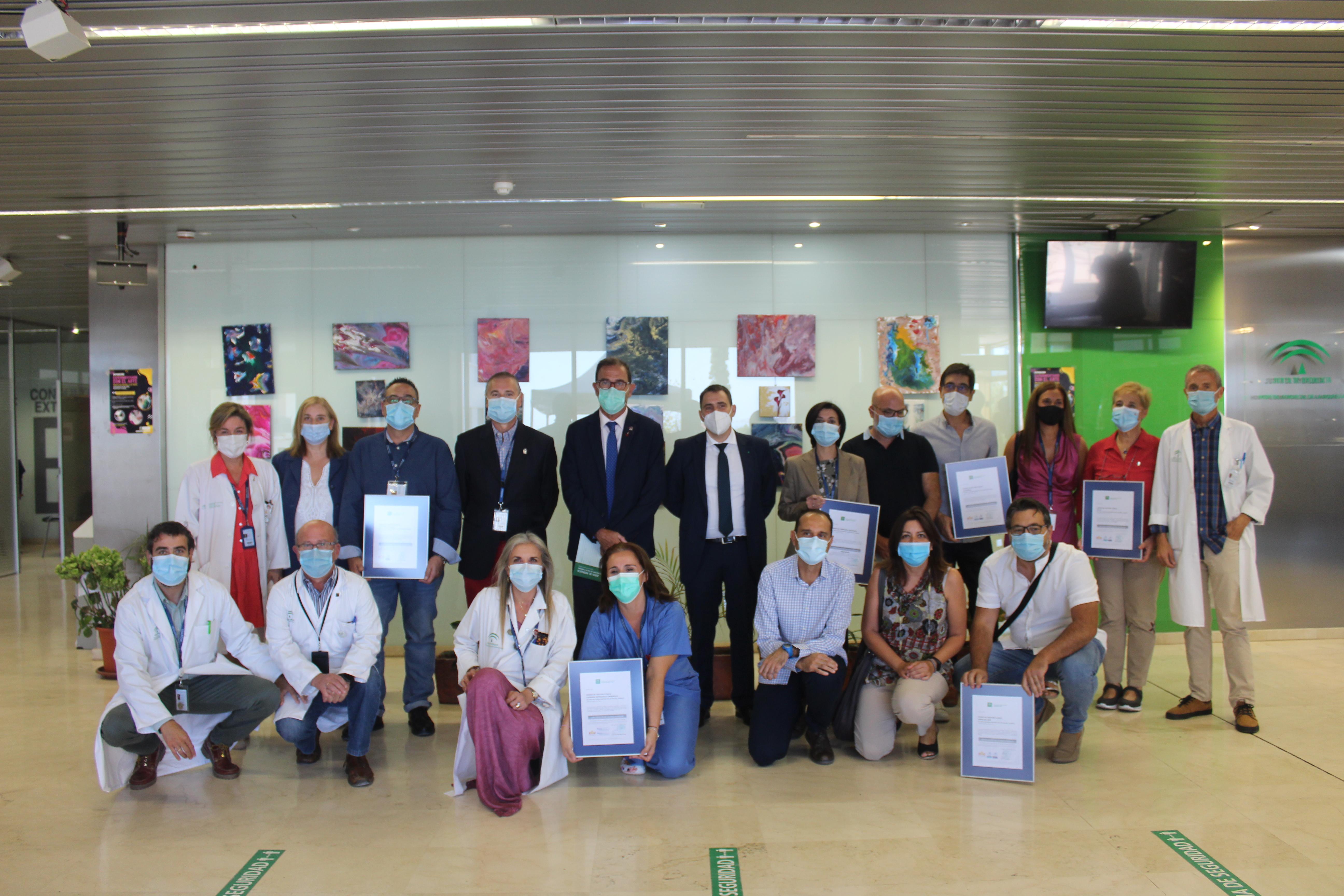 Seis unidades del Área de Gestión Sanitaria Este de Málaga-Axarquía certifican la calidad de sus servicios sanitarios