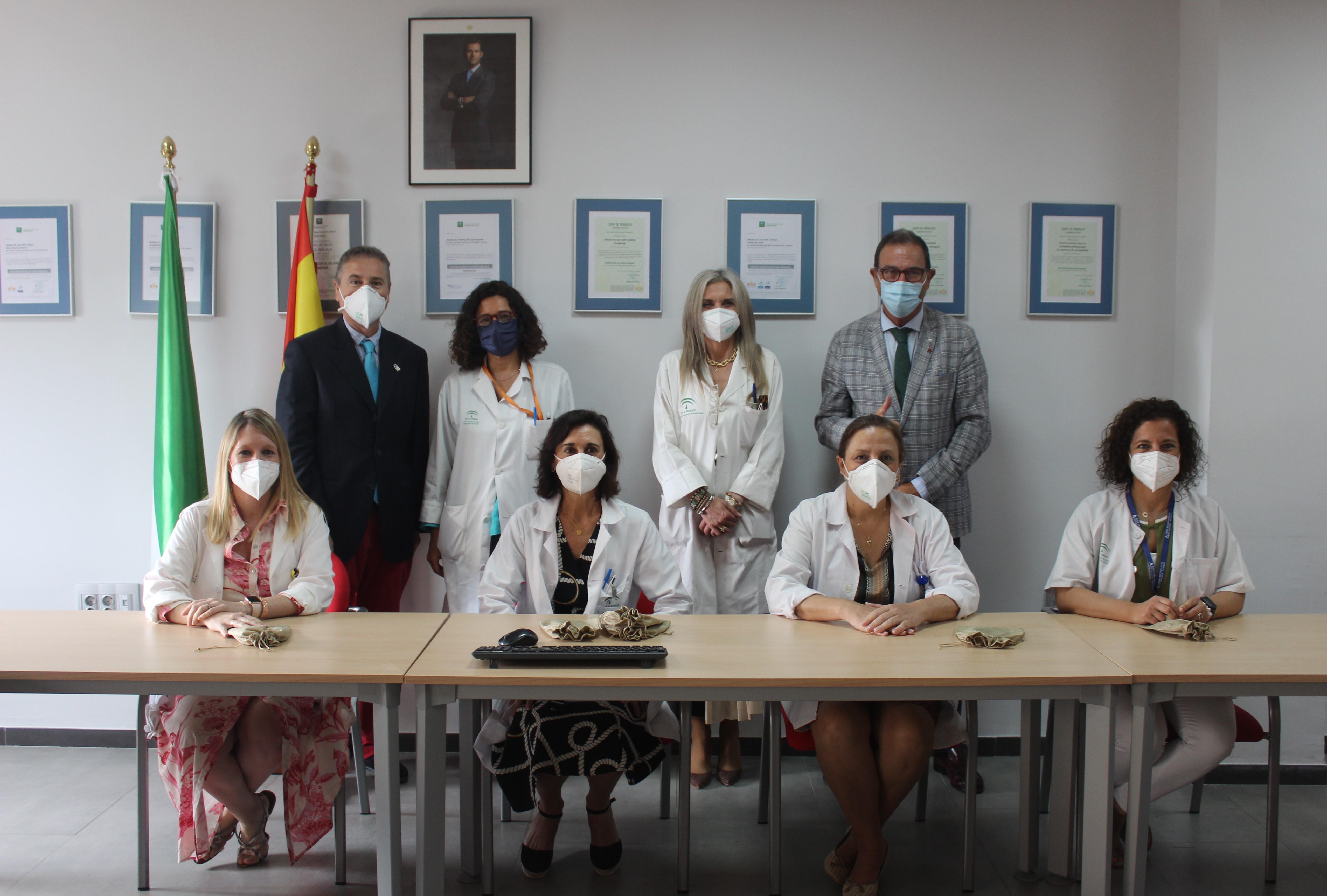 El delegado de Salud y Familias agradece al equipo de epidemiología del Área Sanitaria Este de Málaga-Axarquía su trabajo contra la pandemia de Covid-19