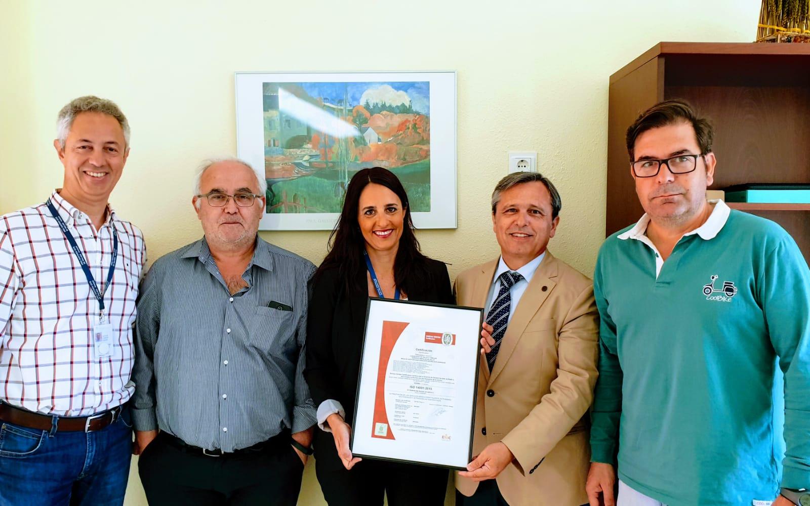 El Área recibe la Certificación en Gestión Ambiental ISO 14001:2015