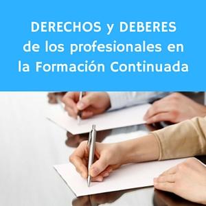 Derechos y deberes de los profesionales en la formación continuada
