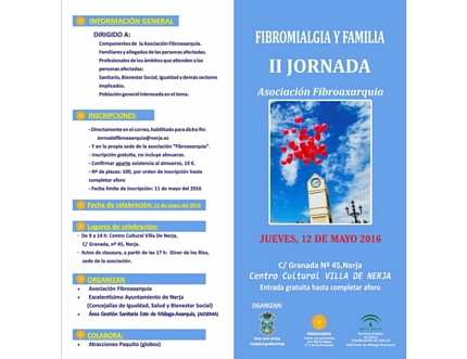 """Inscríbete a las """"II Jornadas sobre Fibromialgia y Familia"""""""
