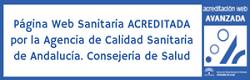 Sello de Certificación de Calidad con Certificación Avanzada del Programa de Acreditación de Páginas Web Sanitarias. Agencia de Calidad Sanitaria de Andalucía.