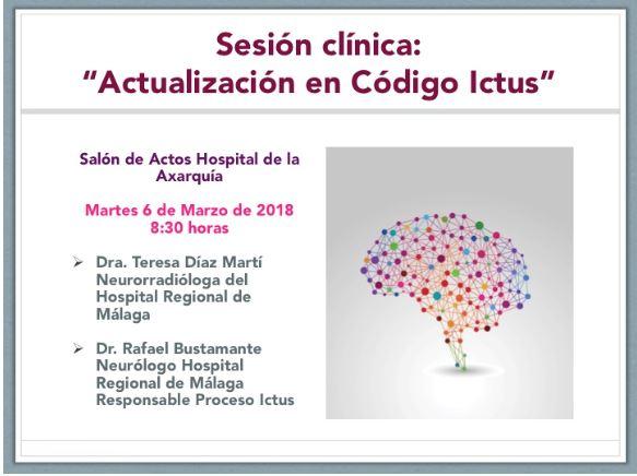 "Sesión clínica hospitalaria ""Actualización en Código ICTUS"""