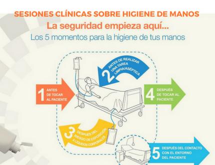 El Área Sanitaria Málaga-Axarquía organiza nuevas sesiones formativas sobre higiene de manos dirigidas a profesionales sanitarios