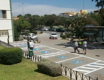 Hoy comienza la reordenación del tráfico en el entorno del Hospital Comarcal