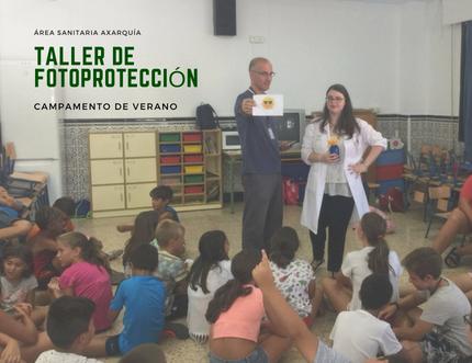 Profesionales de Vélez Sur y Vélez Norte imparten un taller de fotoprotección en el CEIP Nuestra Señora de los Remedios