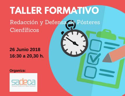 Taller formativo para la redacción y defensa de pósteres científicos