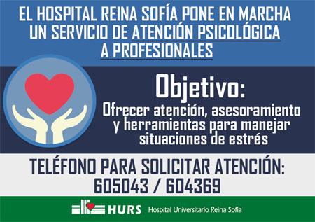 Servicio de atención psicológica a los profesionales