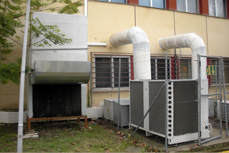 Sistema de climatización de la sala de máquinas