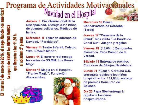 Programa Actividades Motivacionales Navidad En El Hospital