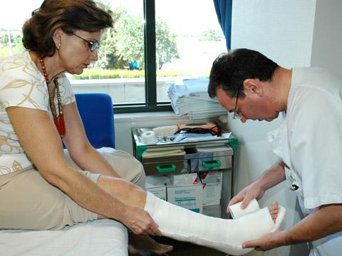 Paciente atendida en consultas externas
