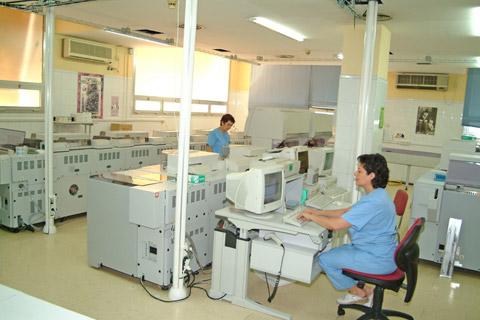 Instalaciones del laboratorio de análisis clínicos