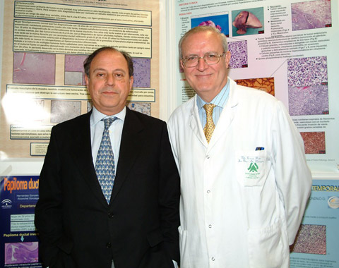 El Dr. Eladio Mendoza Garcia junto a D. Francisco Nogales Fernández