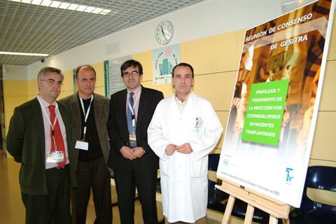 Los doctores Julián de la Torre Cisneros, Albert Pahissa, Jesús Fortún, Luis Jiménez Murillo