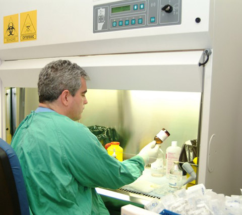 Actividad del servicio del hospital de día de oncología