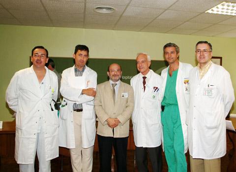 Equipo de profesionales que han realizado los trasplantes