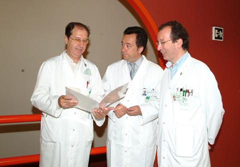 Neumólogos del hospital