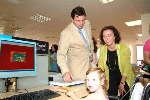 Momento de la inauguración de la ciber@ula