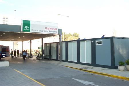 Exterior de la nueva sala de urgencias