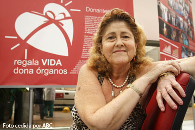 Juana Carrillo, trasplantada hepática número ochocientos