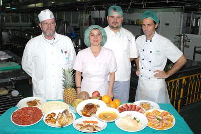 Profesionales de la cocina del hospital