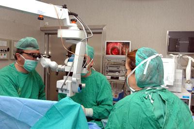 Actividad del quirófano de oftalmología