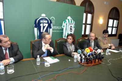 Rueda de prensa del apoyyo del Córdoba Club de Fútbol a la donación