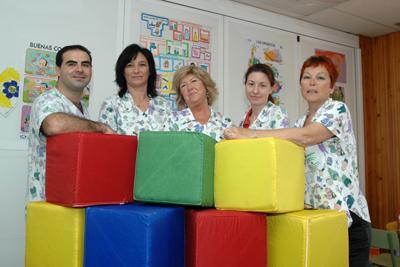Participantes en el trabajo 'Erase una vez un niño'