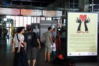 Renfe acoge la exposición 'Reagalos de vida'