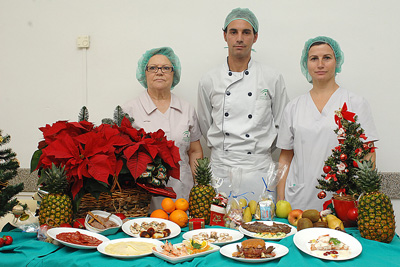 Menú navideño en el hospital