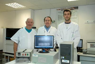 Profesionales del Servicio de Microbiología