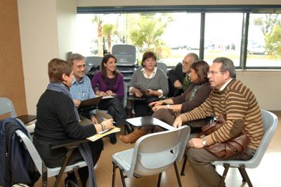 Uno de los grupos de trabajo de las jornadas del Plan Estratégico de Formación.