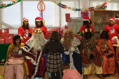 Los Reyes Magos en el hospital