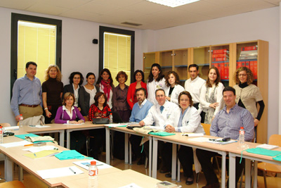 Equipo de profesionales que participa en el encuentro organizado por el servicio de Alergia del hospital.