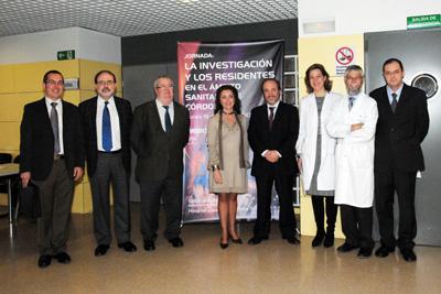 La delegada de Salud junto a los organizadores del encuentro.