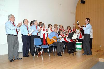 El Coro de la Asociación de Mayores en un momento de su actuación