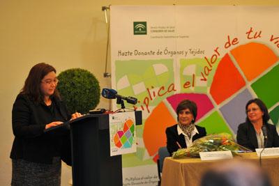 La periodista durante su intervención en nombre de todos los premiados