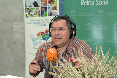 Realizadores y colaboradores del programa 'La hora de Córdoba' emitido desde el hospital.