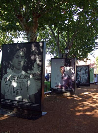 La muestra fotográfica en Peñarroya.
