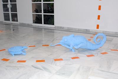 Detalles de la exposición de arte y terapia