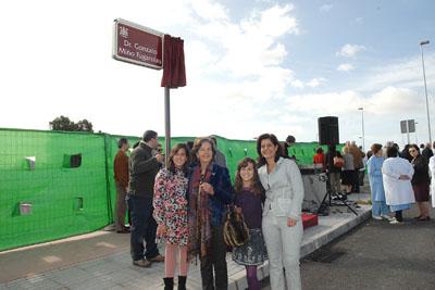 Mujer, hija y nietas de Gonzalo Miño.