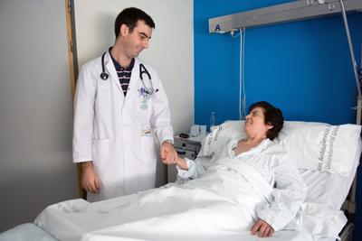 Foto de actividad asistencial en el hospital realizada por Guillermo Mendo