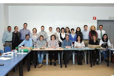 Los asistentes al curso, en el Hospital Reina Sofía.