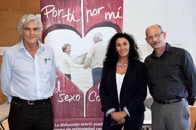 José Suárez de Lezo, Ana Rosa Jurado y Rafael Prieto.