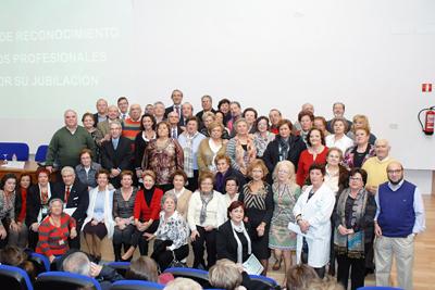 Homenaje profesionales jubilados en 2011