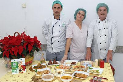 Algunos de los platos que los pacientes degustarán esta Navidad.