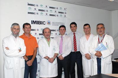 Dr. Pérez Jiménez, D. José Manuel Aranda Lara, D. Carlos González Navarro, D. José Miguel Guzmán de Damas, Dr. Justo Castaño Fuentes y Dr. Eduardo Collantes Estévez
